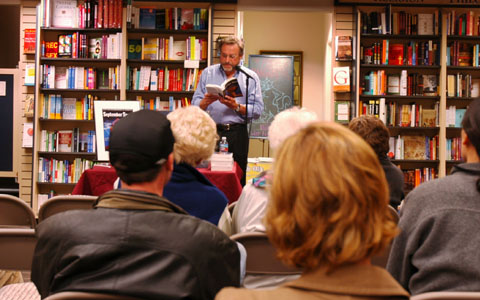 Robert Balmanno gives a book talk and reading at the Books Inc. in Mountain View in November 2006